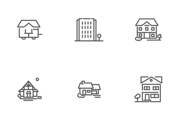 Houses For Real Estate Icon Pack