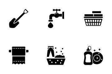 Housework Solid Icons Icon Pack
