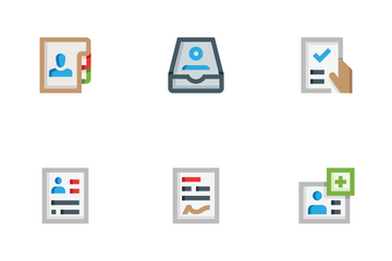 HR Personal Files Icon Pack
