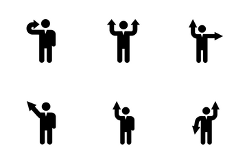 Human Arrows Icon Pack