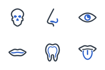 Human Body Organ Icon Pack
