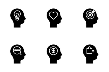 Human Mind Clyph Icon Pack