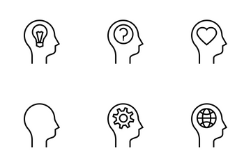 Human Mind Line Icon Pack