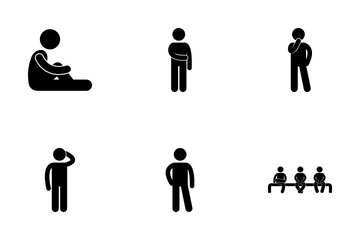 Human Pose Icon Pack