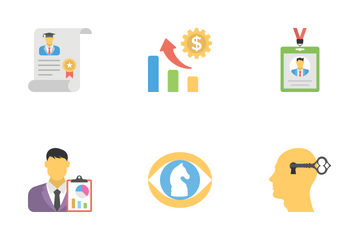 Human Resources Flat Icons 2 Icon Pack