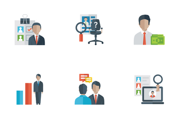 Human Resources Flat Icons Icon Pack
