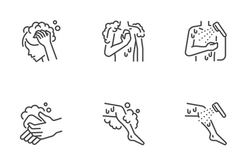 Hygiene Cleaning Icon Pack