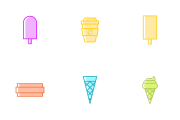 Ice Cream And Sweets Icon Pack