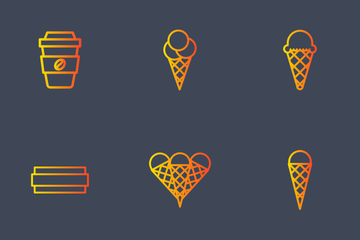 Ice Cream Cones Icon Pack