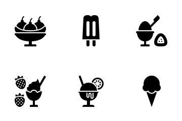 Ice Cream Menu Icon Pack