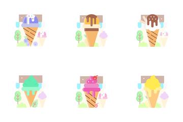 Ice Cream Parlour Icon Pack