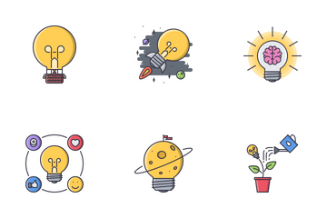 Idea Filled Outline  Icon Pack