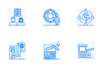 Immigration Service Icon Pack