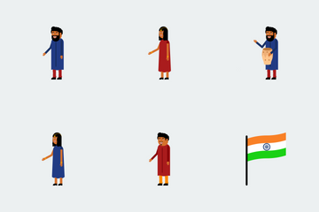 Independence Day Of India Icon Pack