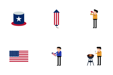 Independence Day United States Icon Pack
