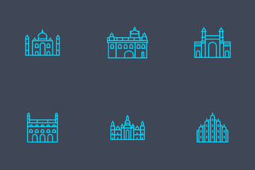 Indian Cities Icon Pack