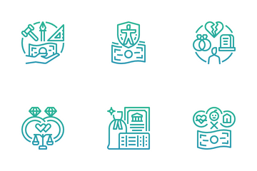 Individual Income Tax Icon Pack