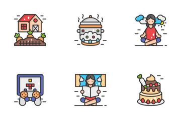 Indoor Activities Icon Pack