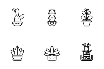 Indoor Plant Icon Pack