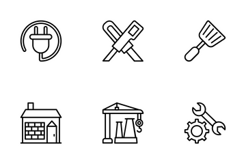 Industrial And Construction 1 Icon Pack