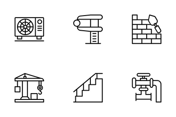 Industrial And Construction 3 Icon Pack