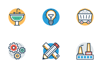 Industrial And Construction Icon Pack