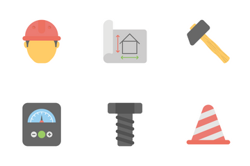 Industrial And Construction Flat Colored Icons 1 Icon Pack