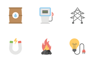 Industrial And Construction Flat Colored Icons 2 Icon Pack