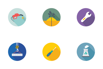 Industrial And Construction Flat Icons 2 Icon Pack