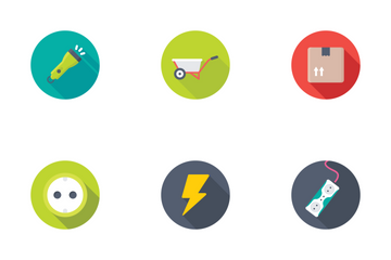 Industrial And Construction Flat Icons 3 Icon Pack