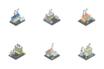Industrial And Factories Icon Pack