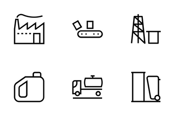 Industrial Processes Icons Icon Pack