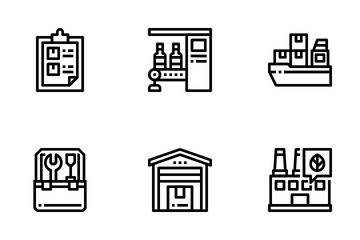 Industry And Manufacturing Icon Pack