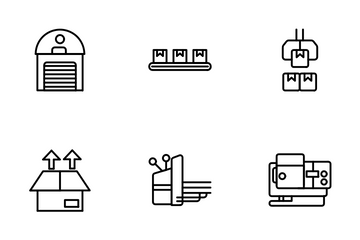 Industry And Mass Production Icon Pack