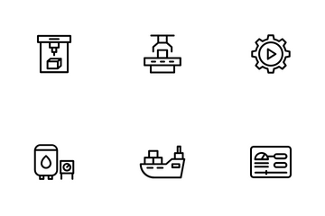Industry Manufacture Icon Pack