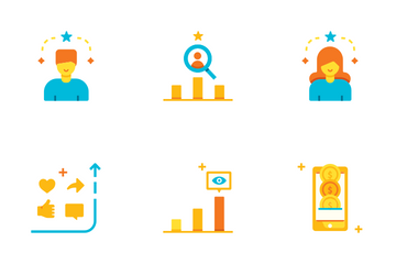Influencer Flat - Become Well Known Icon Pack