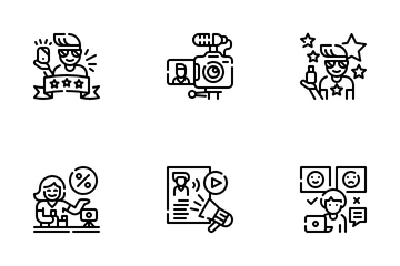 Influencer Marketing Icon Pack