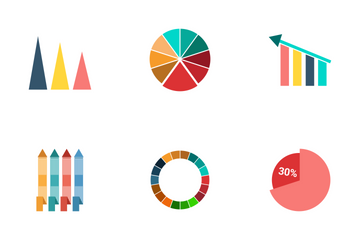 Infographic Bar & Pie Chart Vol 3 Icon Pack