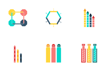Infographic Bar & Pie Chart Vol 4 Icon Pack