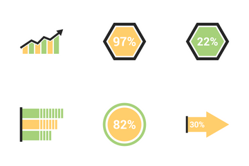 Infographic Bar & Pie Chart Vol 5 Icon Pack
