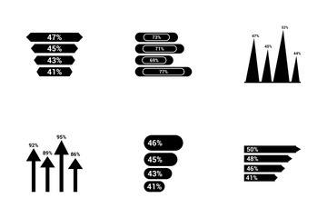 Infographic Bar & Pie Chart Vol 7 Icon Pack