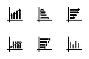 Infographic Growth Bar Vol 8 Icon Pack