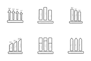 Infographic Growth Chart Vol 1 Icon Pack