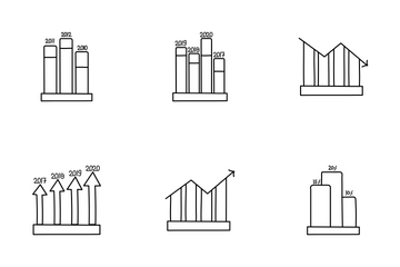 Infographic Growth Chart Vol 2 Icon Pack