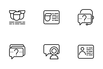 Information And Chat Us Icon Pack