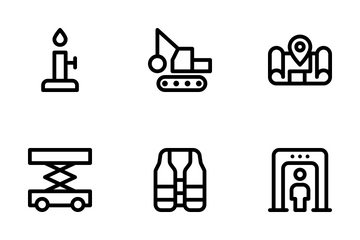 Infrastructure And Construction Icon Pack