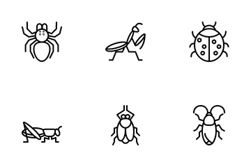 Insect Outline Icon Pack