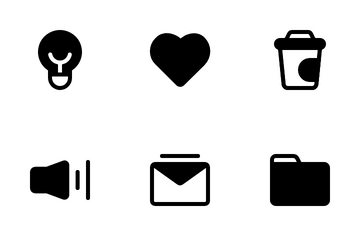 Interface Glyph Icon Pack