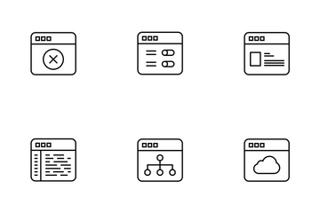 Interface Thinline Icon Pack