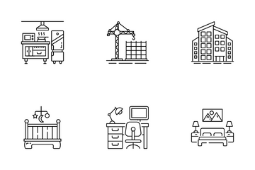 Interior And Building Icon Pack